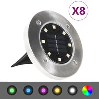vidaXL Solar Ground Lights 8 pcs LED Lights RGB Color