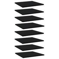"""vidaXL Bookshelf Boards 8 pcs Black 15.7""""x15.7""""x0.6"""" Chipboard"""