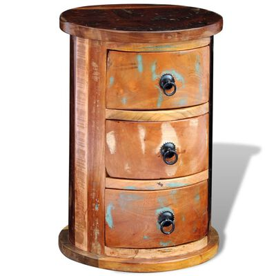 vidaXL Reclaimed Cabinet with 3 Drawers Solid Wood