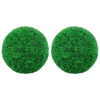 """vidaXL Artificial Boxwood Balls 2 pcs 13.8"""""""
