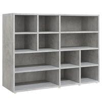 """vidaXL Side Cabinet Concrete Gray 38.2""""x12.6""""x28.3"""" Chipboard"""