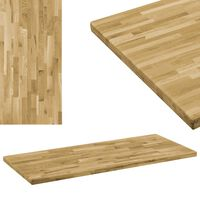 "vidaXL Table Top Solid Oak Wood Rectangular 1.7"" 39.4""x23.6"""
