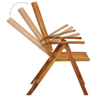 vidaXL Folding Garden Chairs 3 pcs with Cushions Solid Acacia Wood