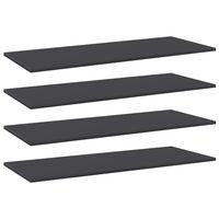 """vidaXL Bookshelf Boards 4 pcs Gray 39.4""""x15.7""""x0.6"""" Chipboard"""