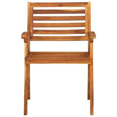 vidaXL Garden Chairs 3 pcs Solid Acacia Wood