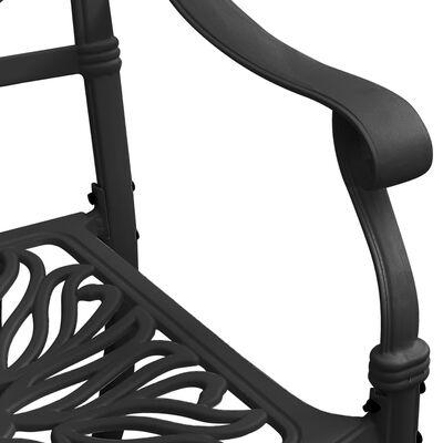 vidaXL 5 Piece Bistro Set Cast Aluminum Black