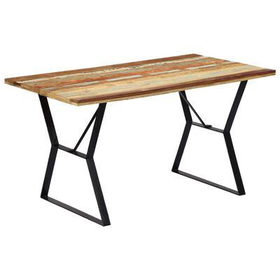 "vidaXL Dining Table 55.1x31.4""x29.9"" Solid Reclaimed Wood"