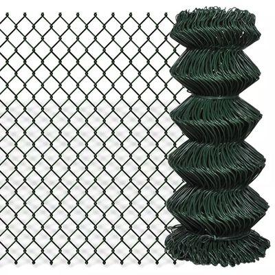 "vidaXL Chain Link Fence Steel 2' 7""x49' 2"" Green"