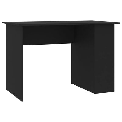 """vidaXL Desk Black 43.3""""x23.6""""x28.7"""" Chipboard"""