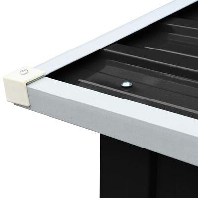 "vidaXL Log Storage Shed Galvanized Steel 67.7""x35.8""x60.6"" Anthracite"