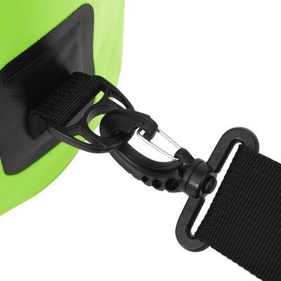 vidaXL Dry Bag with Zipper Green 4 gal PVC