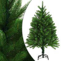 "vidaXL Artificial Christmas Tree Lifelike Needles 47.2"" Green"