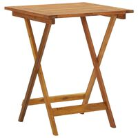 "vidaXL Folding Garden Table 23.6""x23.6""x29.5"" Solid Acacia Wood"