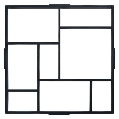 """vidaXL Pavement Moulds 2 pcs 19.8""""x19.8""""x1.7"""" Plastic"""