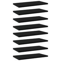 """vidaXL Bookshelf Boards 8 pcs Black 15.7""""x7.9""""x0.6"""" Chipboard"""