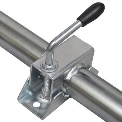"""vidaXL 2 Support Tubes with 2 Split Clamps for 1.9"""" Jockey Wheel"""