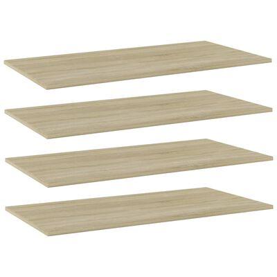 """vidaXL Bookshelf Boards 4 pcs Sonoma Oak 39.4""""x19.7""""x0.6"""" Chipboard"""