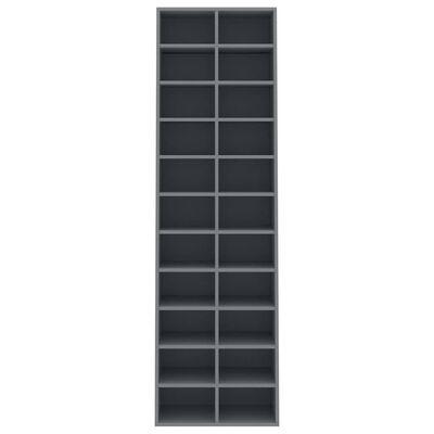 "vidaXL Shoe Cabinet Gray 21.2""x13.3""x72"" Chipboard"