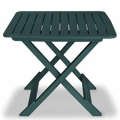 vidaXL 3 Piece Folding Bistro Set Plastic Green
