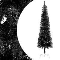 "vidaXL Slim Christmas Tree Black 59.1"""