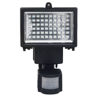 vidaXL Garden Solar Powered LED Spotlight with Sensor Black