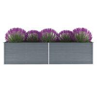 "vidaXL Garden Raised Bed Galvanized Steel 126""x31.5""x31.3"" Gray"