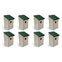"vidaXL Bird Houses 8 pcs Wood 4.7'x4.7""x8.7"""