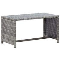"vidaXL Coffee Table Anthracite 27.6""x15.7""x15"" Poly Rattan"