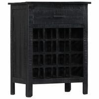 """vidaXL Wine Rack Black 22""""x13.8""""x29.5"""" Solid Mango Wood"""
