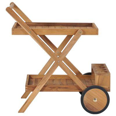 vidaXL Tea Trolley Solid Teak Wood