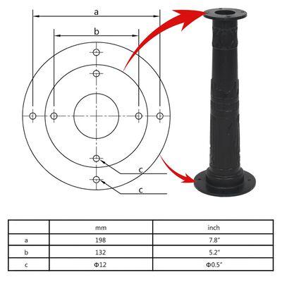 vidaXL Stand for Garden Hand Water Pump Cast Iron