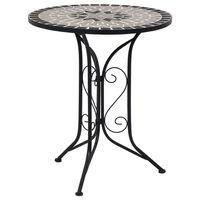 "vidaXL Mosaic Bistro Table Gray 24"" Ceramic"