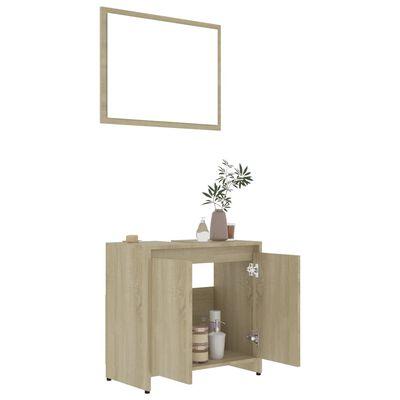 vidaXL 4 Piece Bathroom Furniture Set Sonoma Oak Chipboard