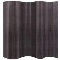 """vidaXL Room Divider Bamboo Gray 98.4""""x65"""""""