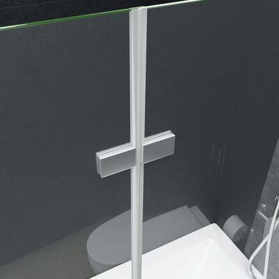 "vidaXL Folding Shower Enclosure 2 Panels ESG 47.2""x55.1"""