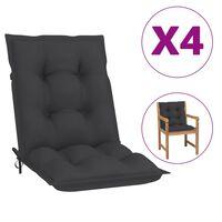 "vidaXL Garden Chair Cushions 4 pcs Anthracite 39.4""x19.7""x2.8"""