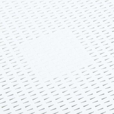 """vidaXL Side Table White 21.3""""x21.3""""x14.4"""" Plastic"""