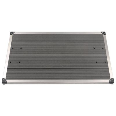 """vidaXL Outdoor Shower Tray WPC Stainless Steel 43.3""""x24.4"""" Gray"""