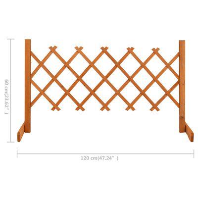 "vidaXL Garden Trellis Fence Orange 47.2""x23.6"" Solid Firwood"