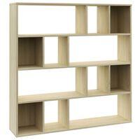"vidaXL Room Divider/Book Cabinet Sonoma Oak 43.3""x9.4""x43.3"" Chipboard"