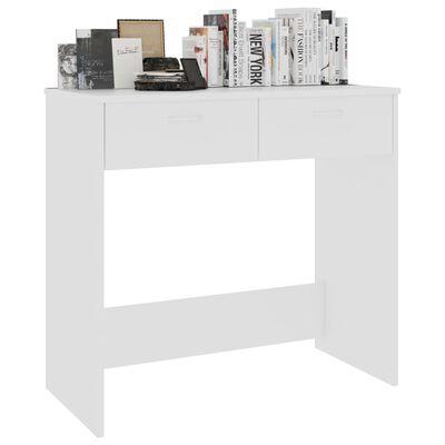 "vidaXL Desk White 31.5""x15.7""x29.5"" Chipboard"