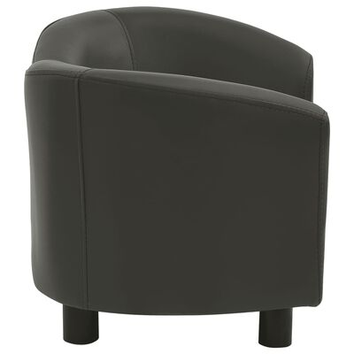 "vidaXL Dog Sofa Dark Gray 26.4""x16.1""x15.4"" Faux Leather"