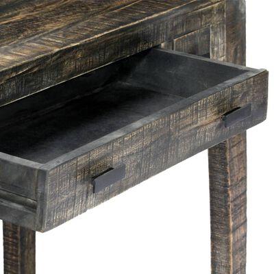 """vidaXL Desk Black 43.3""""x19.7""""x29.5"""" Solid Mango Wood"""
