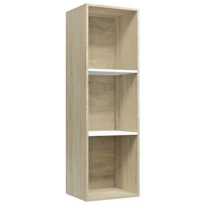 """vidaXL Book Cabinet/TV Cabinet White and Sonoma Oak 14.2""""x11.8""""x44.9"""""""
