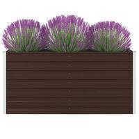 """vidaXL Raised Garden Bed 63""""x31.5""""x17.7"""" Galvanized Steel Brown"""