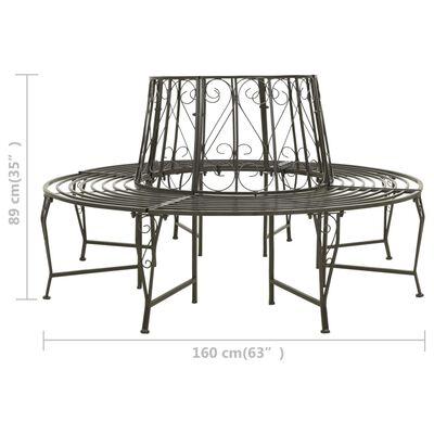 """vidaXL Garden Tree Bench 63"""" Steel"""