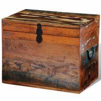 vidaXL Reclaimed Storage Box Solid Wood