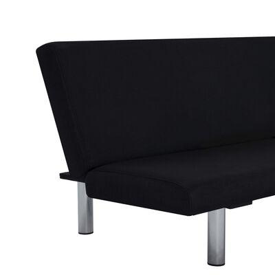 vidaXL Sofa Bed Black Fabric