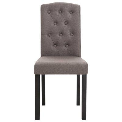 vidaXL Dining Chairs 4 pcs Taupe Fabric
