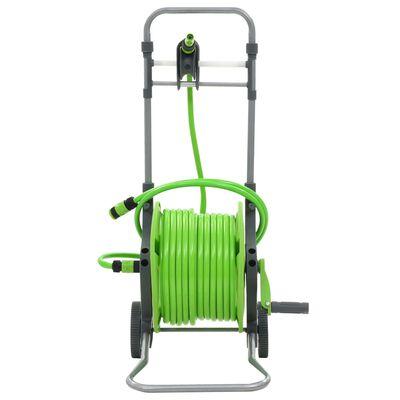 vidaXL Water Hose Reel with Wheels 174.6'+6.6'